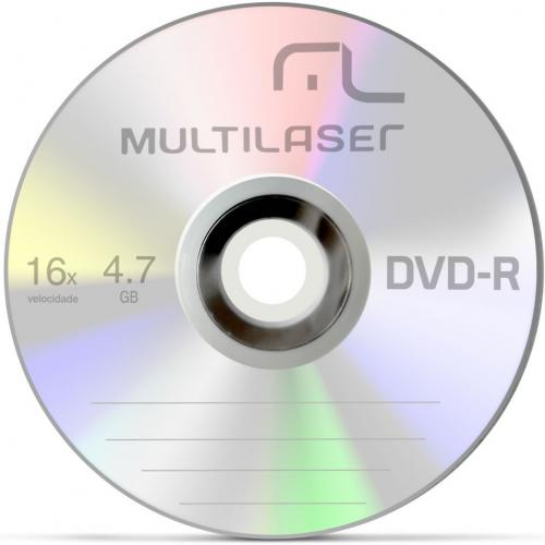 DVD-R 16X 4.7GB Multilaser