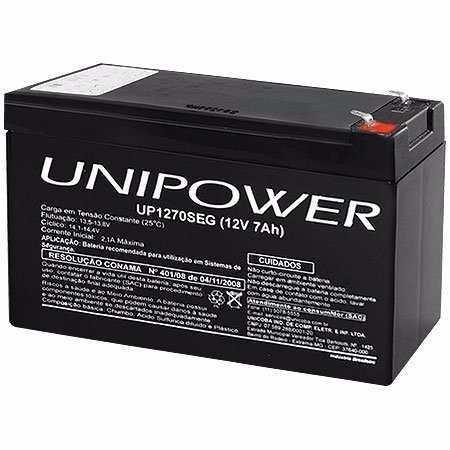 Bateria para Nobreak 12V 7A Unipower (UP1270SEG)