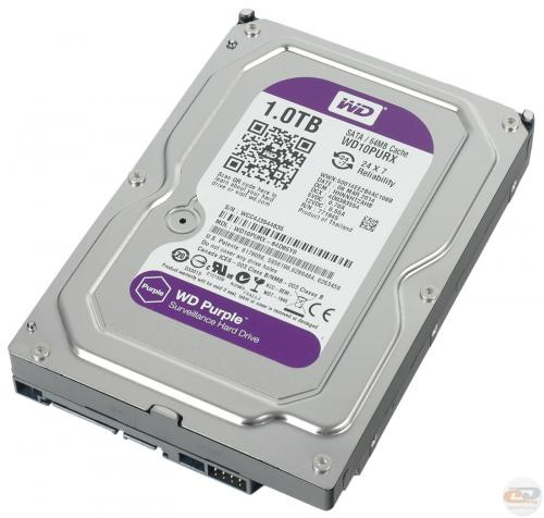 HD Western Digital CFTV Purple 1TB Sata 3 WD10PURZ-85U8XY0