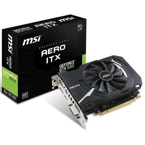Placa de Vídeo 2GB  NVIDIA GeFORCE GTX 1050 AERO ITX OC 128 Bits - MSI