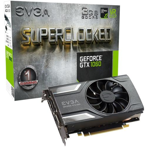 Placa de Vídeo NVIDIA EVGA GEFORCE GTX 1060 3GB 192 Bits