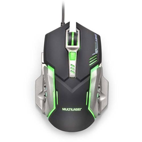 Mouse Gamer USB DPI 2400 Preto MO269 Multilaser