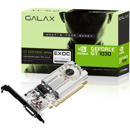 Placa de Vídeo 2GB DDR5 64 Bits PCI-E 3.0 GT1030 EX OC Galax